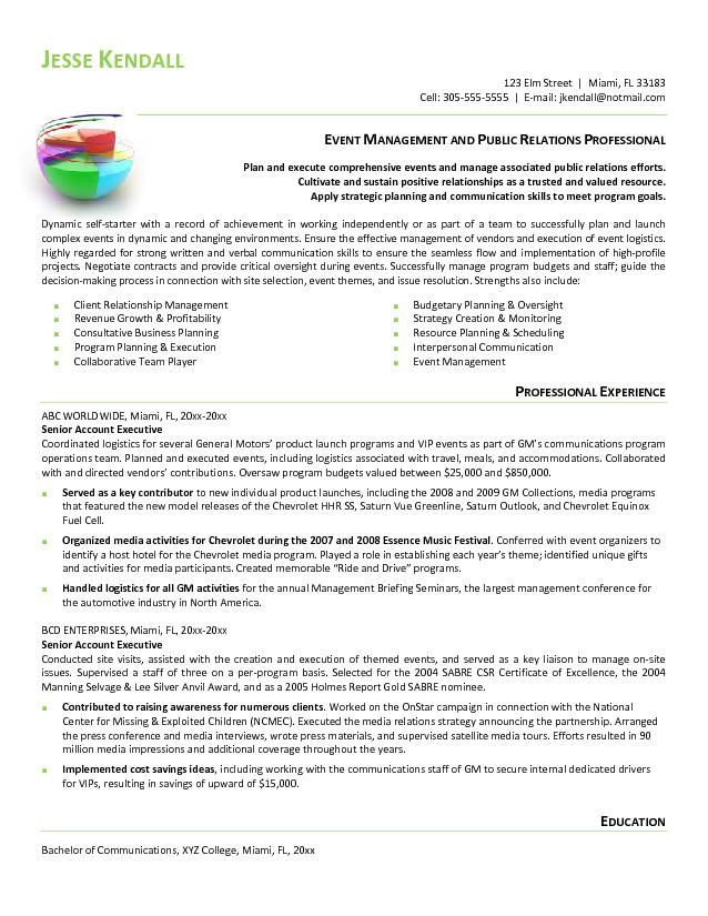 professional resume examples, public affairs - Google Search