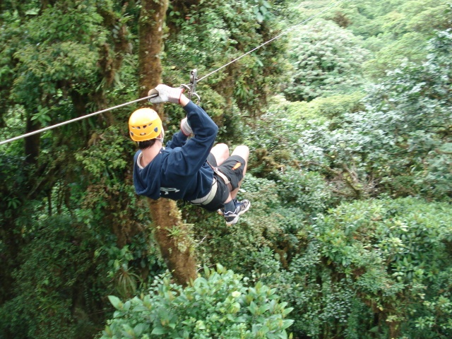 So fun!  A zip line through the Monteverde Cloud Forest in Costa Rica!