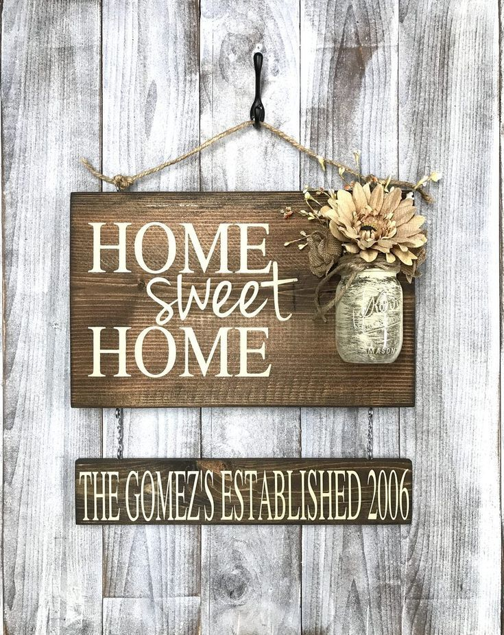 Rustic Shabby Chic Home Decor Home Sweet Home Wood Sign
