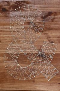 Anthropologie Inspired String Letters