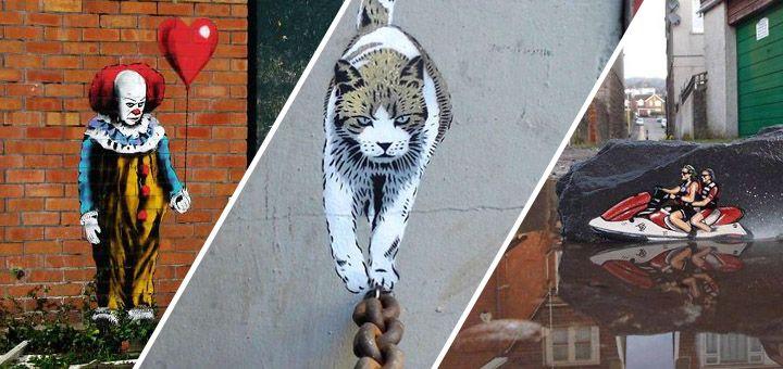 Úžasný street art nesoucí rysy Banksyho