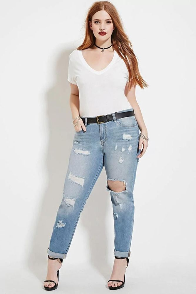 de4586c06309e Forever 21 Plus Size Distressed Jeans Size 18 NWT  fashion  clothing  shoes   accessories  womensclothing  jeans (ebay link)