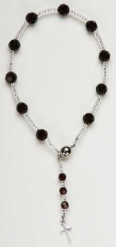 Swarovski Crystal Rosary Bracelet, Magnetic Clasp Curious Designs. $29.95. Please see our apparel and bead lines!. There is also a light blue version of this bracelet.. Free shipping over $75.00.