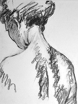 Original Figurative Charcoal Drawing by Jeff by JeffEiswerthArt