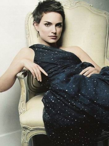 Check out Natalie Portman Medium, Straight, Layered Hairstyle pictures