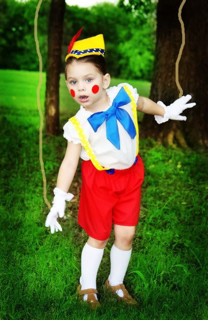 PINOCCHIO - girl or boy - World Book Day - DIY / homemade costume