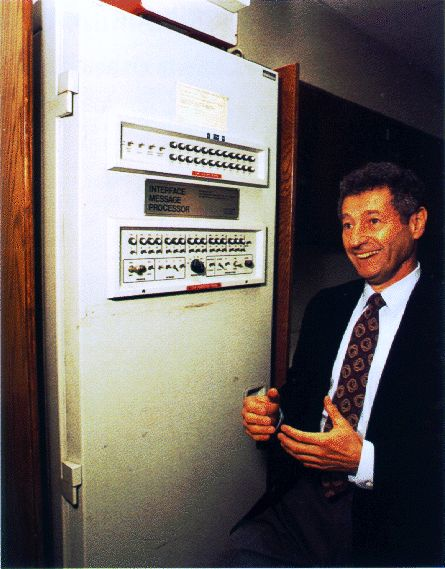 Leonard Kleinrock with IMP1 (First Internet Router)