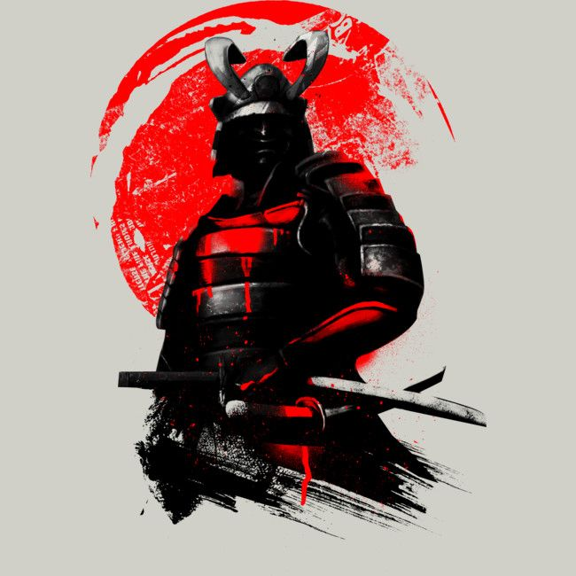 Samurai Warrior is a T Shirt designed by clingcling to illustrate your life and is available at Design By Humans