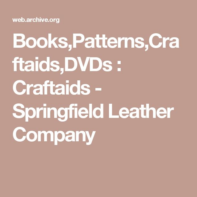 Books,Patterns,Craftaids,DVDs : Craftaids - Springfield Leather Company
