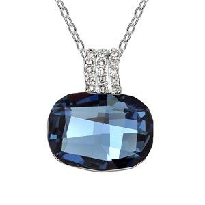 Austrian crystal necklace - Trevi Fountain ( Denim Blue ) 6278