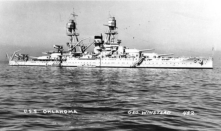 USS Oklahoma, circa 1940