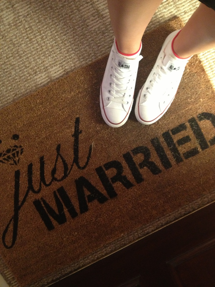 Just Married door mat.