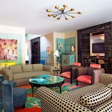 A Bold And Colorful Living Room By Kelly Wearstler That Is As Playful As It  Is
