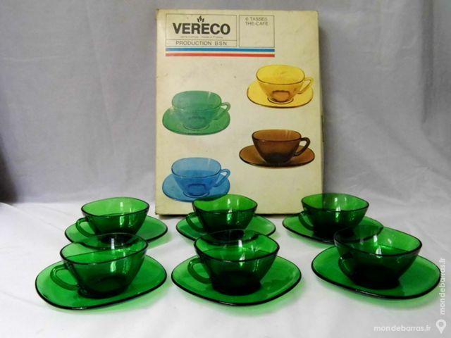 Service tasses à café vert