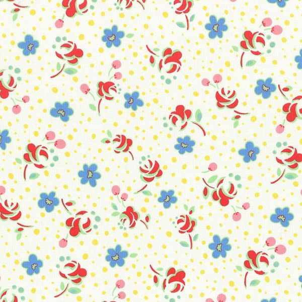 Lecien - Retro 30's Child Smile - Pressed Flowers - White £3.75 http://www.thehomemakery.co.uk/fabric/1930-s-reproduction-fabrics/lecien-retro-30-s-child-smile-pressed-flowers-white