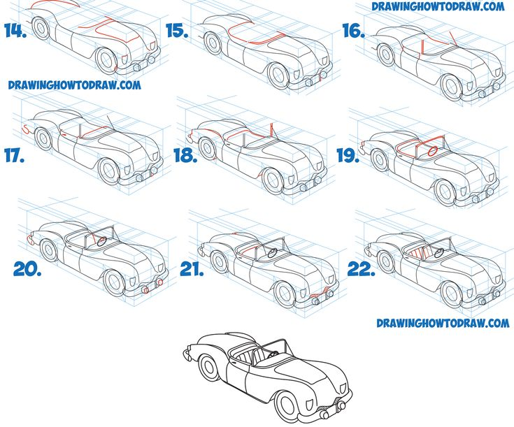 how to draw a car beginner