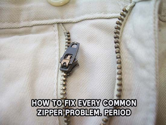 How to Fix Every Common Zipper Problem. Period, to, bamboo, to, shtf, prepping, diy, homesteading, a, clothes, jacket, warm