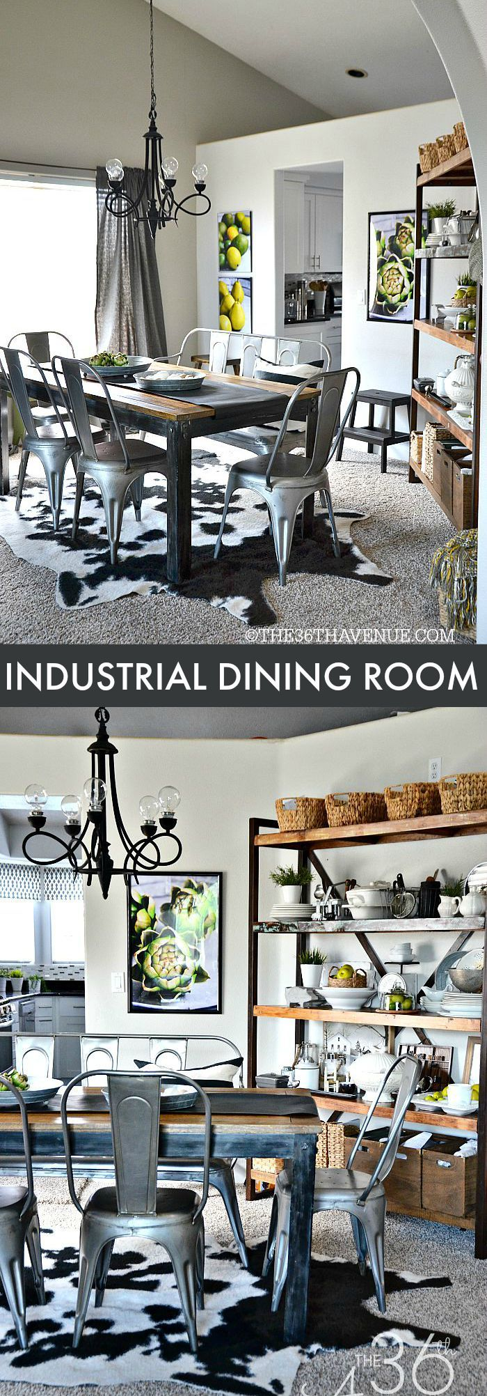 Diy industrial dining room table - Best 25 Industrial Dining Tables Ideas On Pinterest Industrial Dining Rooms Industrial Style Dining Table And Black Dining Room Chairs