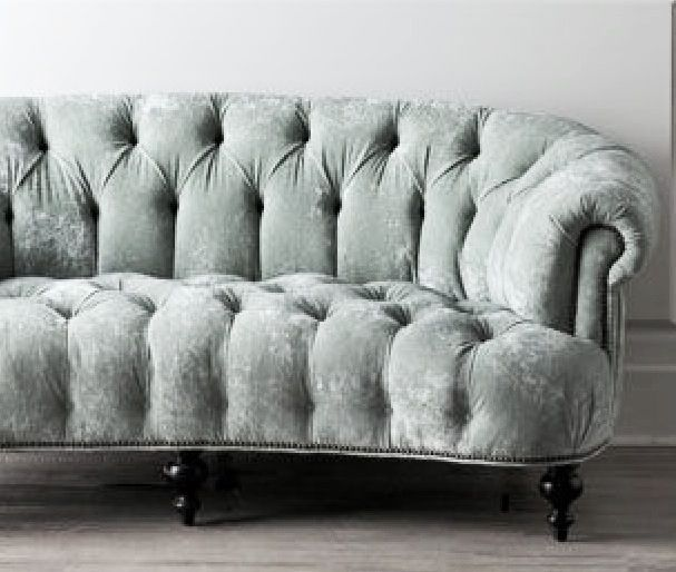 Tufted Seafoam Velvet Sofa Sittin Pretty Pinterest