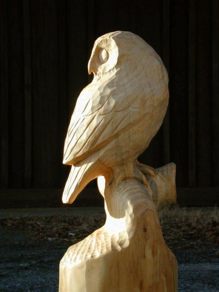 Wooden owl carving carvings sculptures pinterest