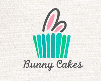 bunny cakes Logo design by chaytoo - A unique logo for your unique brand #cupcake #baking #bakery #logo #design #BrandCrowd