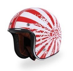 TORC T50 Route66 Retro Style Open Face Japanese Bobber Helmet TORC T50 Route66 retro style open face helmet. Light weight ABS shell. Washable, removable ultra-suede inner comfort padding. Flying Tiger graphic. Comes with a removable 3 snaps sun visor 3/4. Dot certified. Description - Retro Style Open Face Helmet for Motorcycle, Moped and Scooter - Comes with a removable sun visor 3/4 - Removable, washable high quality ultra suede inner comfort padding - DOT Approved - Weight 3lbs