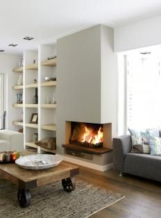 Fireplace , builtins #modern