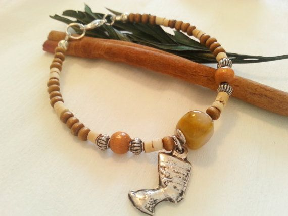 Energy bracelet, Take the right path with Enthusiasm, Multistone energy Mookaite, wooden beads, coconut shell beads, Neferiti