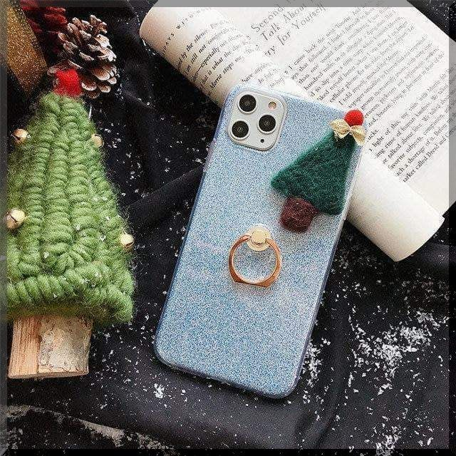 Cute Christmas Snowman Gloves Tree Hat Santa Case In 2020 Iphone Cases Iphone 11 Blue Phone Case