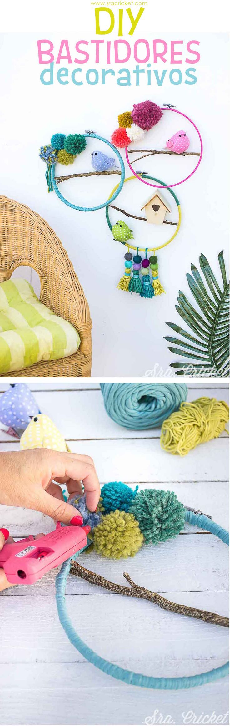 Decorar la pared con bastidores. Cómo hacer unos bastidores DIY decorativos. #bastidores #DIY #decoraciondepared #decorarconbastidores Mehndi Decor, Holiday Decorating, Decorating Ideas, Relief Society, Embroidery Ideas, Ideas Para, Fathers Day, 4th Of July, Crochet Earrings