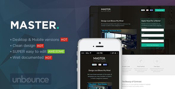 MASTER - Real Estate Unbounce Template