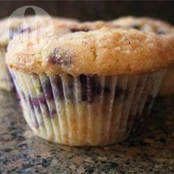 Bosbessen-kruimelmuffins @ allrecipes.nl