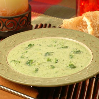 Easy Cream of Broccoli Soup is simple and satisfying and can be made in less than an hour. It is a good way to get broccoli into the tummies of fussy eaters. (Great for the lunchbox thermos, too!)