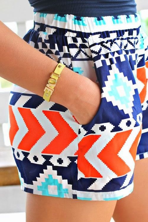 Colorful, summer shorts.