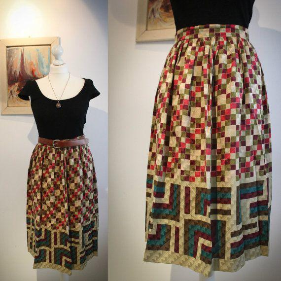 Italian Vintage Designer Silk Skirt by BelmondoVintage on Etsy, €65.00