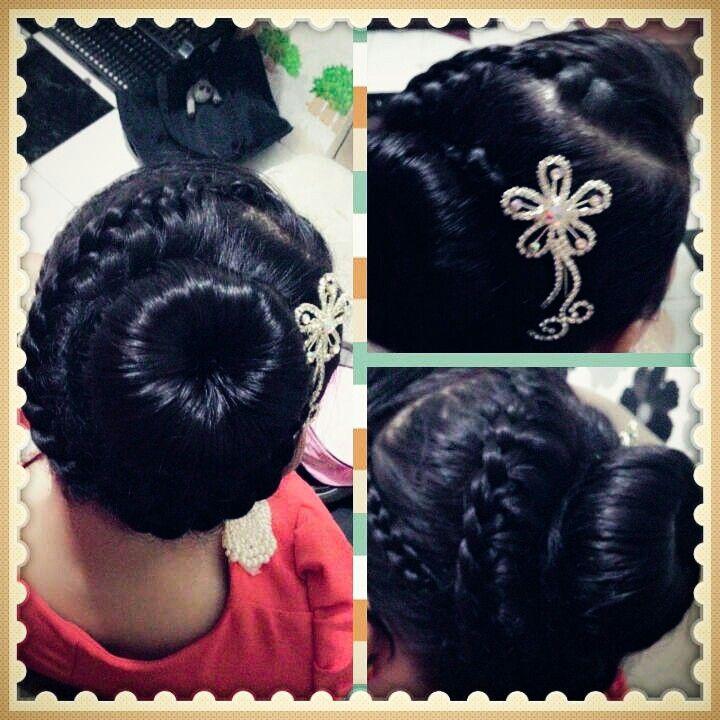 Korean Bun Braid style created by me