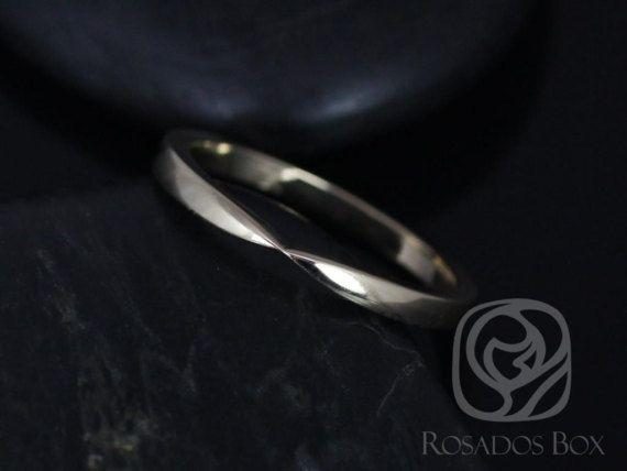 Rosados Box Plain Marla 14kt Yellow Gold Cinched Wedding Band