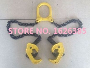1Ton die forging Iron oil drum lifter clamp plastic bucket barrel oil tank can chain sling