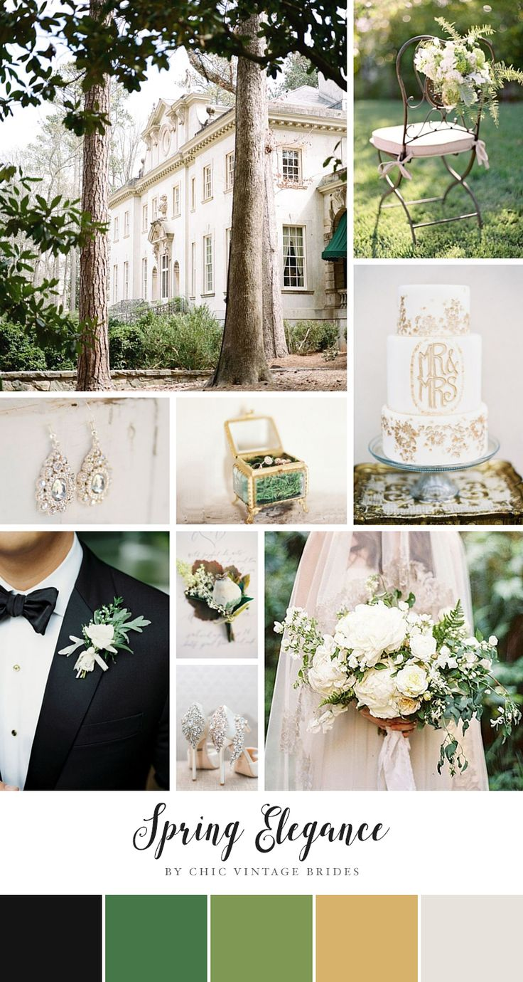 425 best Green Weddings images on Pinterest | Bridal dresses, Green ...