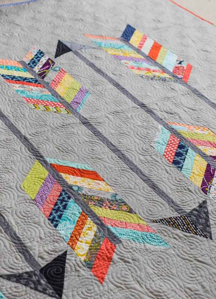 Love the gray variation of our Miss Polly's Piece Goods exclusive Arrow Quilt.  Custom made in all sizes and color!