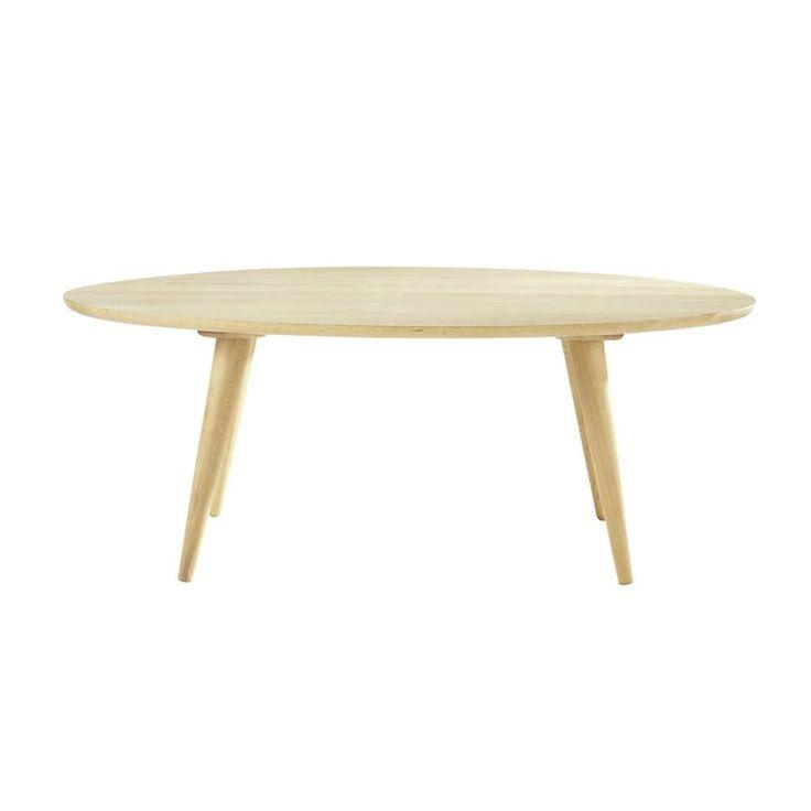 Table basse vintage en chêne massif L 120 cm