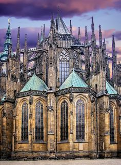 The gorgeous St. Vitus Cathedral in Prague, Czech Republic. Get up close with its interior.