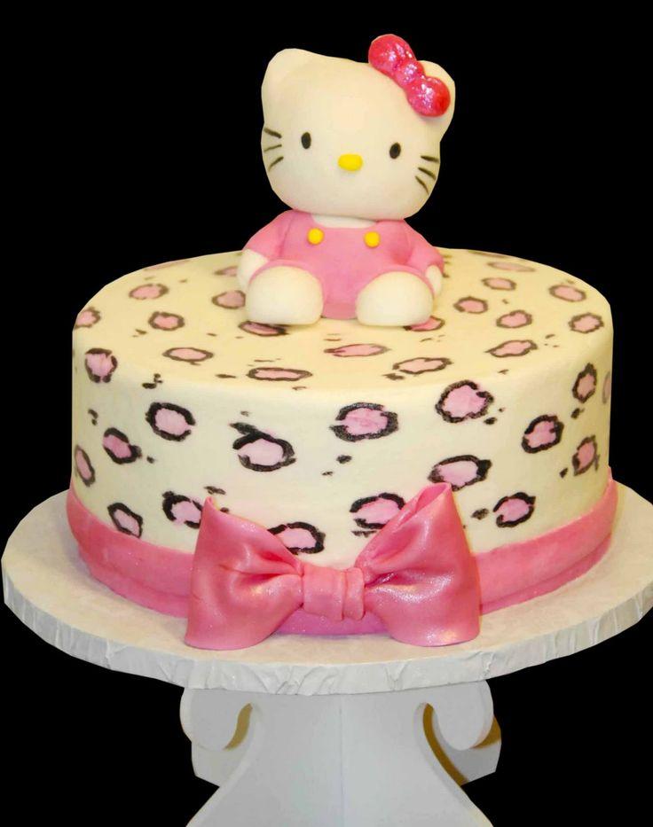 Hello kitty animal print cake.