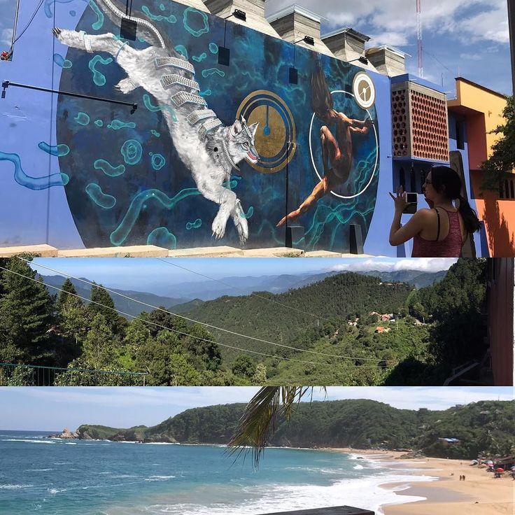 Tilcajete - San José del Pacífico - Mazunte #roadtrip #tilcajete #sanjose #mazunte #playa #bosque #mural #alebrijes #camino #aquínostocóvenir #forest #rainforest #beach #destinationphotographer