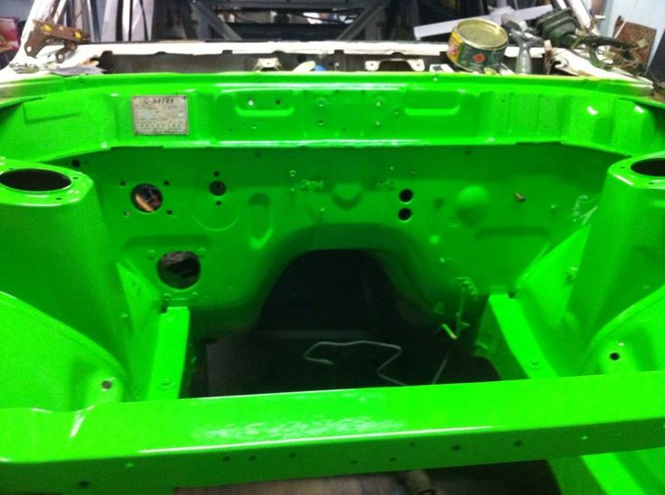 engine bay painted