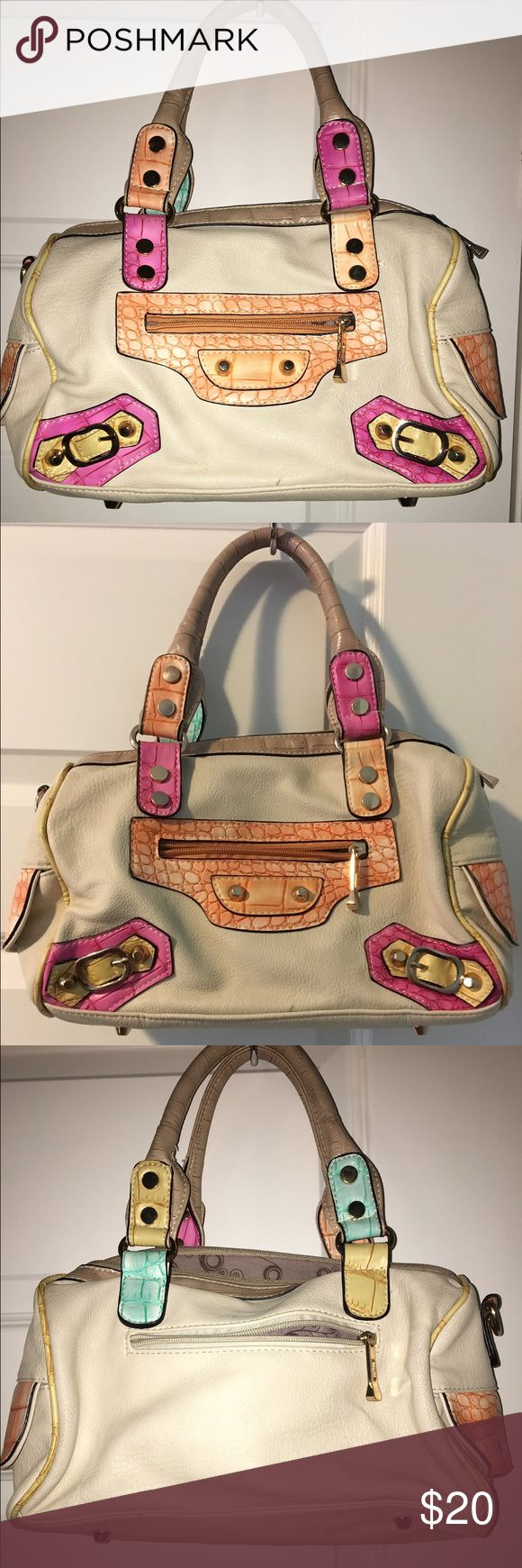 🌺Style: faux leather tote, Color: Multicolor Multi color, leather handbag tote, great statement making bag, very eye catching, medium sized Bags Totes