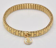 Gold Stretch Diamante Watch Bracelet.