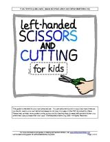 Scissors and cutting guide for left-handed children