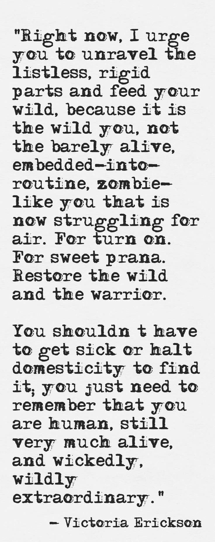 Restore your wild.