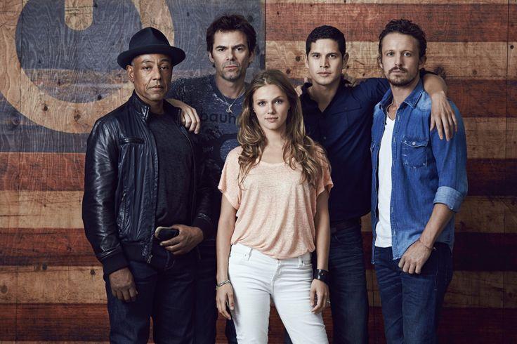 #Revolution Cast / season 2 / l to r: giancarlo esposito / billy burke / jd pardo / david lyons / tracy spiridakos